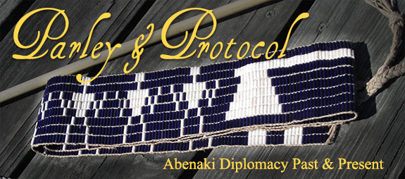image of a replica wampum belt that is similr to the ones that were used in diplomatic proceedings