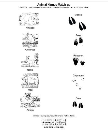 Abenaki Animal Names